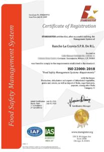 Certificado 22000 Inglés